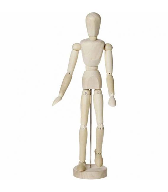 Figurína z lešteného tvrdého dreva polohovateľná, 30cm
