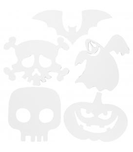 Motívy papierové Halloween vyfarbovacie, 25x17cm, 5ks