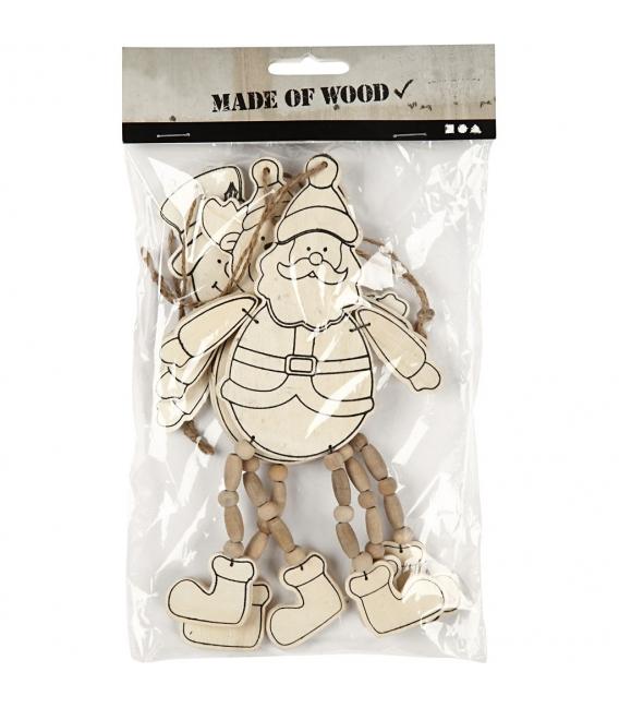 Vianočná dekorácia - drevené postavičky