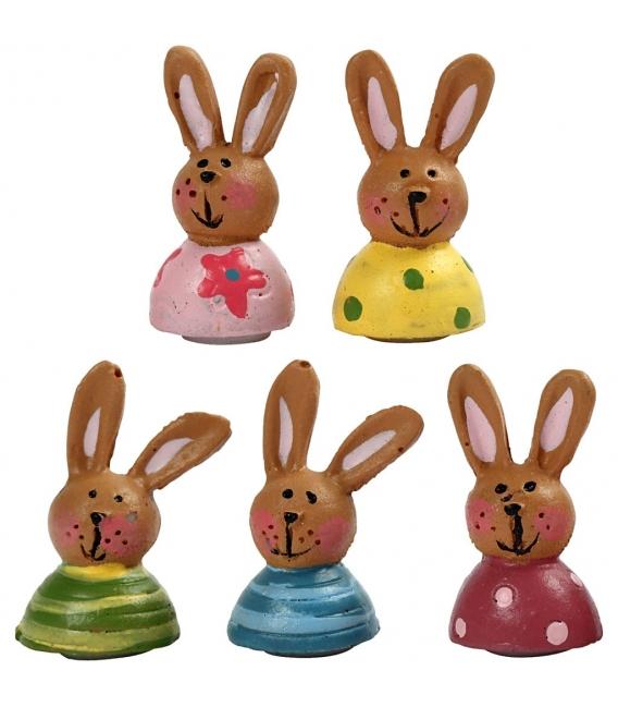 Polymérové nalepovacie zajačiky, 5ks