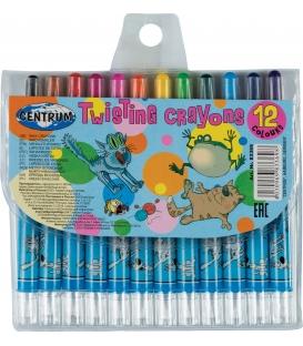 Voskovky 12 farebné motív Crazy Pets
