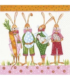 Servítky Veľkonočné 33x33cm, 20ks - Zajace