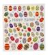 Nálepky trblietavé veľkonočné - vajíčka, 1 list