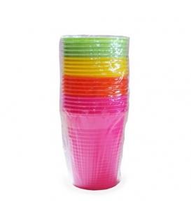 Pohár plastový farebný 180 ml 20 kusov