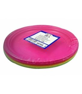 Taniere plytké plastové 22 cm mix farieb 20 ks v balení