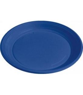 Taniere plastové plytké modré 22 cm balené po 10 ks