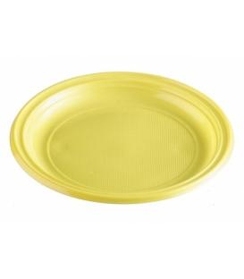 Taniere plastové plytké žlté 22 cm balenie 10 ks