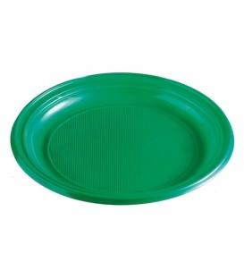 Taniere plastové plytké zelené 22 cm balenie 10 ks