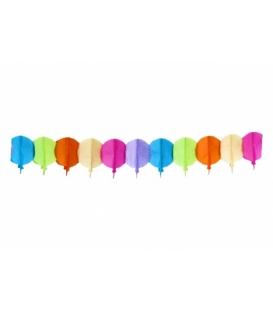 Girlanda papierová balóny dlhá 4 m, výška 20 cm