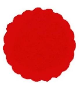 Rozetky premium O 9 cm červené balenie 40 ks