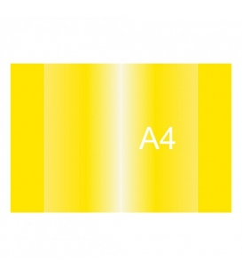 Obal na zošit A4 430x305mm ŽLTÝ 150 µm