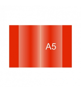 Obal na zošit A5 červený 150 µm