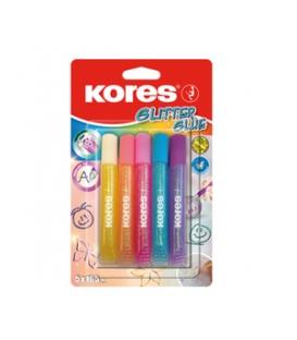 Dekoračný glitrový lep 5 pastelových farieb 10,5 ml BL KORES
