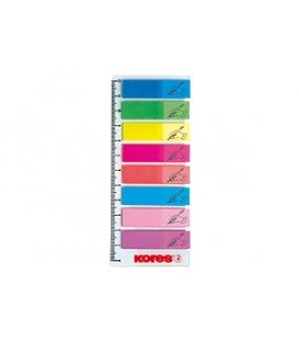 Index 45 x 12 mm, 8-farieb po 25 ks na pravítku v PVC