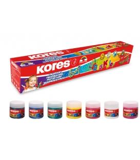 Prstové farby 6+1 ks po 30 ml suprava DEDI KOLOR