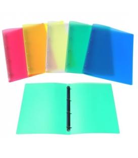 Poradač 4- kružkový A4 20 mm z plastu mix farieb