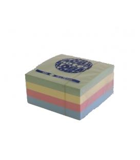 Samolepiaci bloček TIX 75x75 mm farebný, kocka