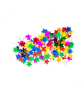 Konfety farebné hviezdy lesklé 15 g