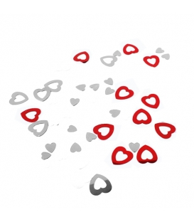 Konfety srdcia lesklé 15 g