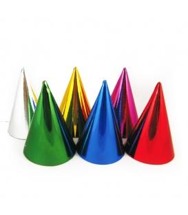 Farebné párty klobúčiky - 6 ks