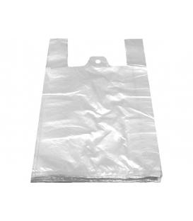Taška mikroténová 12 mikrónová biela 100 ks v balení