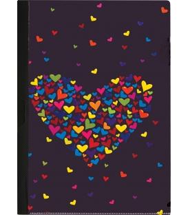 Obal A4 na spisy s klipom, motív Hearts