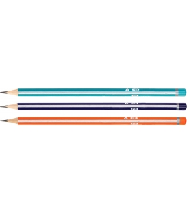 Ceruzka grafitová  HB trojhranná s gumou