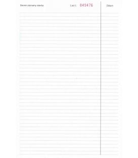 Stavebný denník A4, 158 list. NCR