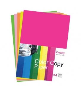 Kopírovací papier color copy A4 neón mix 75g, 100 hárkov