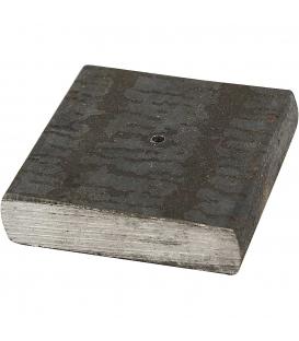 Kovový stojanček 4x4x1cm s dierov 2mm 1ks