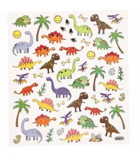 Nálepky dinosaury 15 x 16,5cm 1 list