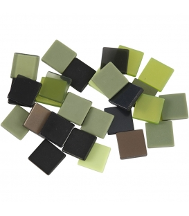 Mozaika mini 10x10mm zelená harmónia 25g