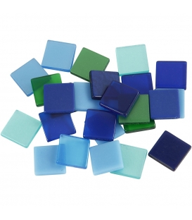 Mozaika mini 10x10mm modrá harmónia 25g