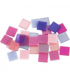 Mozaika mini 10x10mm ružová harmónia 25g
