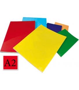 Ofsetový kartón A2/225 g, červený 20 ks