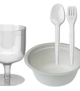Jednorazový riad a servítky